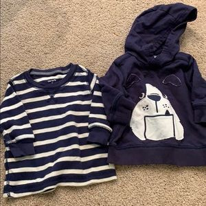 Carters shirts size 3 month